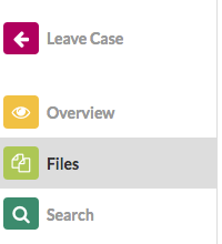 Files Icon on the Left Pane