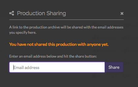 Choose the production to share