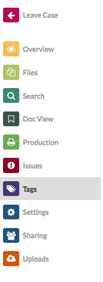Navigate to the Tags Tab