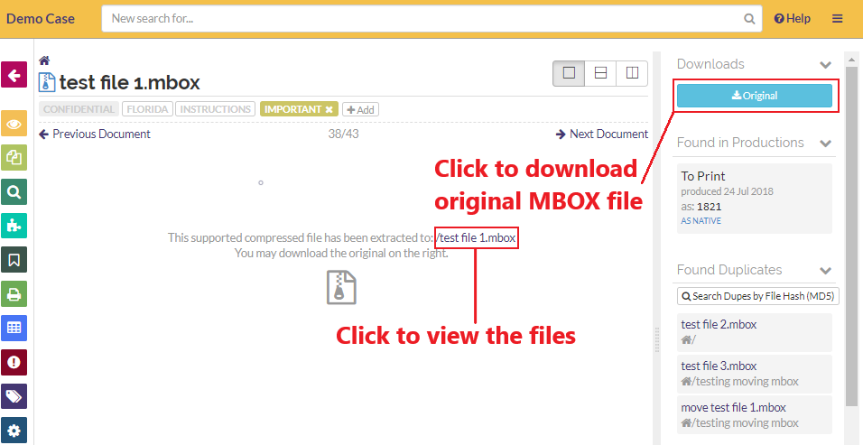 click on the link to view files in the 'Files' view
