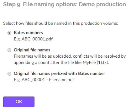 choose a file naming mode