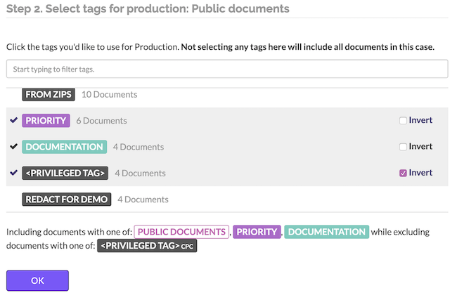 Exclude privileged files from your productions
