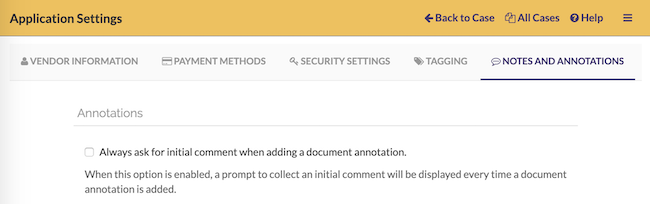You can change whether you want a prompt to enter an initial comment on annotations from the settings page
